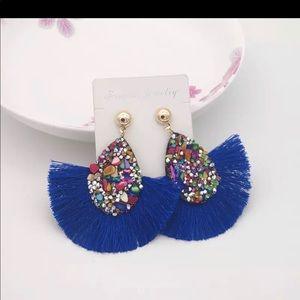 Crystal Tassel Earrings